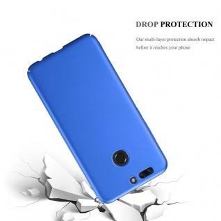 Cadorabo Hülle für Honor 8 PRO in METALL BLAU - Hardcase Handyhülle aus Plastik gegen Kratzer und Stöße - Schutzhülle Bumper Ultra Slim Back Case Hard Cover - Vorschau 3