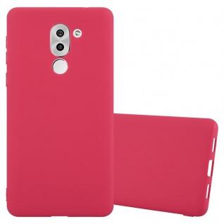 Cadorabo Hülle für Honor 6X in CANDY ROT - Handyhülle aus flexiblem TPU Silikon - Silikonhülle Schutzhülle Ultra Slim Soft Back Cover Case Bumper