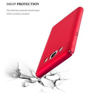 Cadorabo Hülle für Samsung Galaxy J7 2016 in METALL ROT ? Hardcase Handyhülle aus Plastik gegen Kratzer und Stöße ? Schutzhülle Bumper Ultra Slim Back Case Hard Cover - Vorschau 5