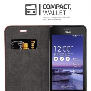 Cadorabo Hülle für Asus ZenFone 5 2014 in APFEL ROT - Handyhülle mit Magnetverschluss, Standfunktion und Kartenfach - Case Cover Schutzhülle Etui Tasche Book Klapp Style - Vorschau 3