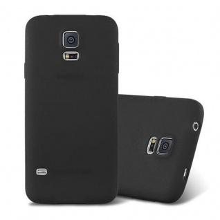 Cadorabo Hülle für Samsung Galaxy S5 / S5 NEO in FROST SCHWARZ - Handyhülle aus flexiblem TPU Silikon - Silikonhülle Schutzhülle Ultra Slim Soft Back Cover Case Bumper