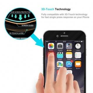Cadorabo Vollbild Panzer Folie für Apple iPhone 6 / iPhone 6S - Schutzfolie in TRANSPARENT mit SCHWARZ - Gehärtetes (Tempered) Display-Schutzglas in 9H Härte mit 3D Touch Kompatibilität - Vorschau 5