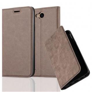 Cadorabo Hülle für LG X POWER 2 in KAFFEE BRAUN - Handyhülle mit Magnetverschluss, Standfunktion und Kartenfach - Case Cover Schutzhülle Etui Tasche Book Klapp Style