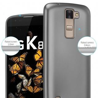 Cadorabo Hülle für LG K8 2016 in METALLIC GRAU - Handyhülle aus flexiblem TPU Silikon - Silikonhülle Schutzhülle Ultra Slim Soft Back Cover Case Bumper - Vorschau 4