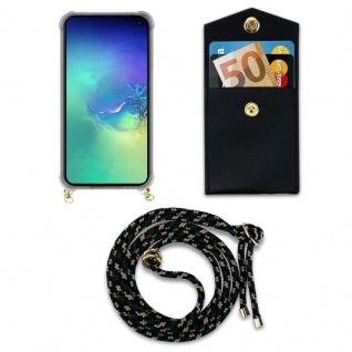 Cadorabo Handy Kette für Samsung Galaxy S10e in CAMOUFLAGE ? Silikon Necklace Umhänge Hülle mit Gold Ringen, Kordel Band Schnur und abnehmbarem Etui ? Schutzhülle - Vorschau 4