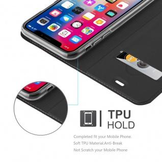 Cadorabo Hülle für Apple iPhone X / XS in CLASSY SCHWARZ - Handyhülle mit Magnetverschluss, Standfunktion und Kartenfach - Case Cover Schutzhülle Etui Tasche Book Klapp Style - Vorschau 2