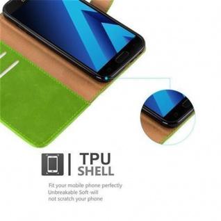 Cadorabo Hülle für Samsung Galaxy A3 2017 in GRAS GRÜN ? Handyhülle mit Magnetverschluss, Standfunktion und Kartenfach ? Case Cover Schutzhülle Etui Tasche Book Klapp Style - Vorschau 4