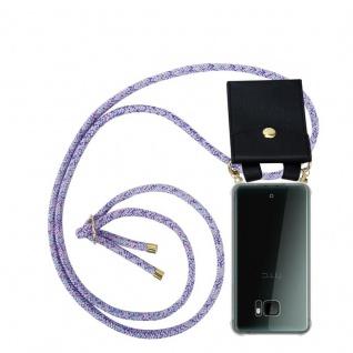 Cadorabo Handy Kette für HTC U ULTRA in UNICORN Silikon Necklace Umhänge Hülle mit Gold Ringen, Kordel Band Schnur und abnehmbarem Etui Schutzhülle