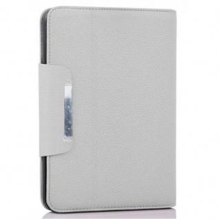 """Cadorabo Hülle für Kindle Fire HD (7, 0"""" Zoll) - Hülle in TITAN WEIß ? Schutzhülle mit Standfunktion und Kartenfach - Book Style Etui Bumper Case Cover - Vorschau 2"""