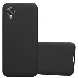 Cadorabo Hülle für LG NEXUS 5 in FROST SCHWARZ - Handyhülle aus flexiblem TPU Silikon - Silikonhülle Schutzhülle Ultra Slim Soft Back Cover Case Bumper