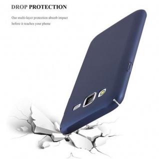 Cadorabo Hülle für Samsung Galaxy J5 2015 in METALL BLAU - Hardcase Handyhülle aus Plastik gegen Kratzer und Stöße - Schutzhülle Bumper Ultra Slim Back Case Hard Cover - Vorschau 5