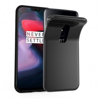 Cadorabo Hülle für OnePlus 6 in SCHWARZ Handyhülle aus flexiblem TPU Silikon Silikonhülle Schutzhülle Ultra Slim Soft Back Cover Case Bumper
