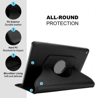 Cadorabo Tablet Hülle für Apple iPad AIR 2 2014 / iPad AIR 2013 in HOLUNDER SCHWARZ Book Style Schutzhülle mit Auto Wake Up mit Standfunktion und Gummiband Verschluss - Vorschau 4