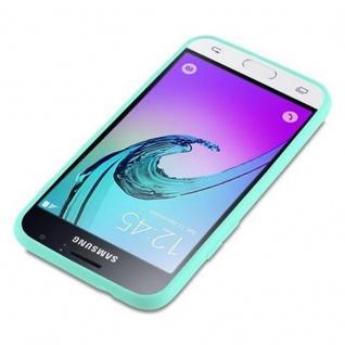 Cadorabo Hülle für Samsung Galaxy J1 2016 in CANDY BLAU - Handyhülle aus flexiblem TPU Silikon - Silikonhülle Schutzhülle Ultra Slim Soft Back Cover Case Bumper - Vorschau 3