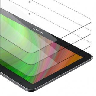 """Cadorabo 3x Panzer Folie für Samsung Galaxy Tab 4 (10.1"""" Zoll) SM-T530 / T535 Schutzfolie in KRISTALL KLAR 3er Pack Gehärtetes (Tempered) Display-Schutzglas in 9H Härte mit 3D Touch Kompatibilität"""