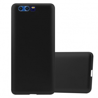 Cadorabo Hülle für Honor 9 in METALLIC SCHWARZ - Handyhülle aus flexiblem TPU Silikon - Silikonhülle Schutzhülle Ultra Slim Soft Back Cover Case Bumper