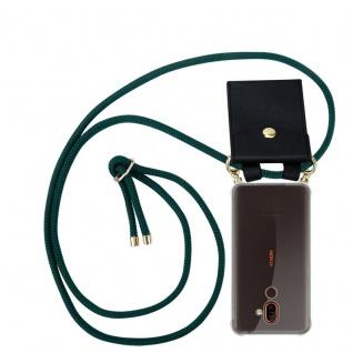 Cadorabo Handy Kette für Nokia 7 PLUS in ARMEE GRÜN Silikon Necklace Umhänge Hülle mit Gold Ringen, Kordel Band Schnur und abnehmbarem Etui Schutzhülle