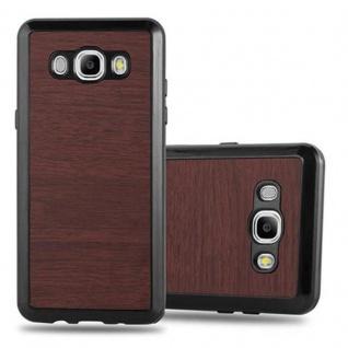 Cadorabo Hülle für Samsung Galaxy J5 2016 in WOODEN KAFFEE ? Handyhülle aus flexiblem TPU Silikon ? Silikonhülle Schutzhülle Ultra Slim Soft Back Cover Case Bumper