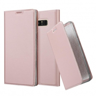 Cadorabo Hülle für Samsung Galaxy NOTE 8 in CLASSY ROSÉ GOLD - Handyhülle mit Magnetverschluss, Standfunktion und Kartenfach - Case Cover Schutzhülle Etui Tasche Book Klapp Style