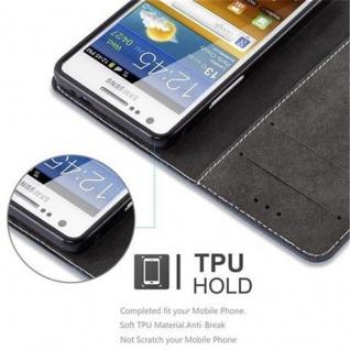 Cadorabo Hülle für Samsung Galaxy S2 / S2 PLUS in DUNKEL BLAU BRAUN ? Handyhülle mit Magnetverschluss, Standfunktion und Kartenfach ? Case Cover Schutzhülle Etui Tasche Book Klapp Style - Vorschau 4