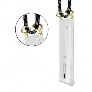 Cadorabo Handy Kette für LG K10 2016 in CAMOUFLAGE Silikon Necklace Umhänge Hülle mit Gold Ringen, Kordel Band Schnur und abnehmbarem Etui Schutzhülle - Vorschau 2
