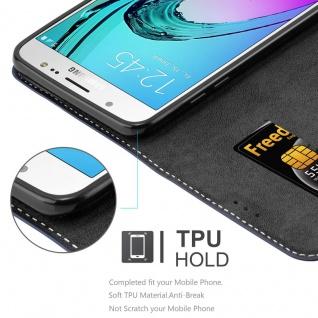 Cadorabo Hülle für Samsung Galaxy J7 2016 in BLAU BRAUN ? Handyhülle mit Magnetverschluss, Standfunktion und Kartenfach ? Case Cover Schutzhülle Etui Tasche Book Klapp Style - Vorschau 3