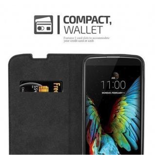 Cadorabo Hülle für LG K10 2016 in KAFFEE BRAUN - Handyhülle mit Magnetverschluss, Standfunktion und Kartenfach - Case Cover Schutzhülle Etui Tasche Book Klapp Style - Vorschau 5