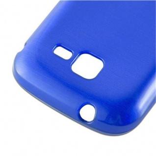 Cadorabo Hülle für Samsung Galaxy TREND in BLAU - Handyhülle aus flexiblem TPU Silikon - Silikonhülle Schutzhülle Ultra Slim Soft Back Cover Case Bumper - Vorschau 4