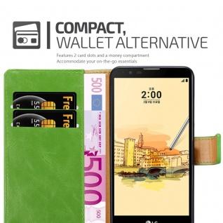 Cadorabo Hülle für LG STYLUS 2 in GRAS GRÜN - Handyhülle mit Magnetverschluss, Standfunktion und Kartenfach - Case Cover Schutzhülle Etui Tasche Book Klapp Style - Vorschau 5