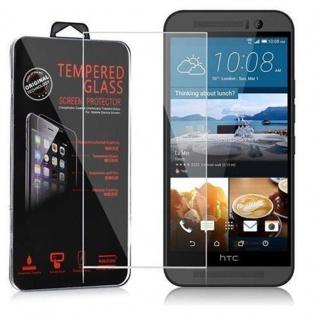 Cadorabo Panzer Folie für HTC ONE M9 (3.Gen.) - Schutzfolie in KRISTALL KLAR - Gehärtetes (Tempered) Display-Schutzglas in 9H Härte mit 3D Touch Kompatibilität