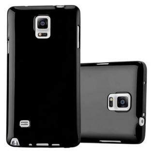 Cadorabo Hülle für Samsung Galaxy NOTE 4 in JELLY SCHWARZ - Handyhülle aus flexiblem TPU Silikon - Silikonhülle Schutzhülle Ultra Slim Soft Back Cover Case Bumper