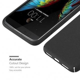 Cadorabo Hülle für LG K10 2016 in FROSTY SCHWARZ - Hardcase Handyhülle aus Plastik gegen Kratzer und Stöße - Schutzhülle Bumper Ultra Slim Back Case Hard Cover - Vorschau 5