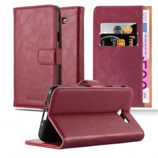 Cadorabo Hülle für Samsung Galaxy J7 2017 US Version in WEIN ROT - Handyhülle mit Magnetverschluss, Standfunktion und Kartenfach - Case Cover Schutzhülle Etui Tasche Book Klapp Style