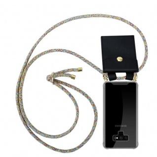 Cadorabo Handy Kette für Samsung Galaxy NOTE 9 in RAINBOW - Silikon Necklace Umhänge Hülle mit Gold Ringen, Kordel Band Schnur und abnehmbarem Etui ? Schutzhülle