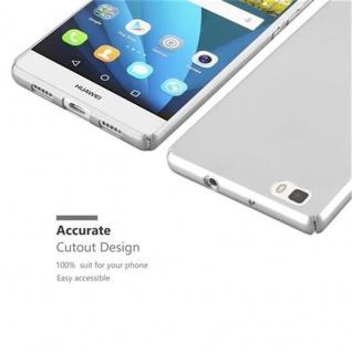 Cadorabo Hülle für Huawei P8 LITE 2015 in METALL SILBER ? Hardcase Handyhülle aus Plastik gegen Kratzer und Stöße ? Schutzhülle Bumper Ultra Slim Back Case Hard Cover - Vorschau 3
