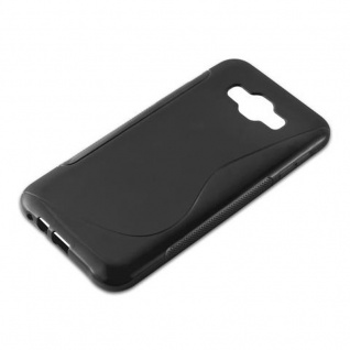 Cadorabo Hülle für Samsung Galaxy E7 2015 in OXID SCHWARZ - Handyhülle aus flexiblem TPU Silikon - Silikonhülle Schutzhülle Ultra Slim Soft Back Cover Case Bumper - Vorschau 2