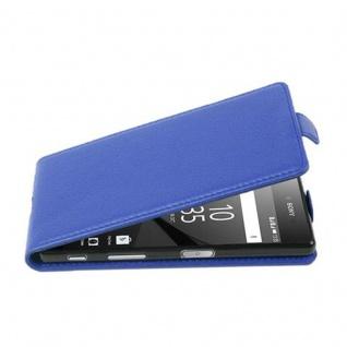 Cadorabo Hülle für Sony Xperia Z5 COMPACT - Hülle in KÖNIGS BLAU ? Handyhülle aus strukturiertem Kunstleder im Flip Design - Case Cover Schutzhülle Etui Tasche
