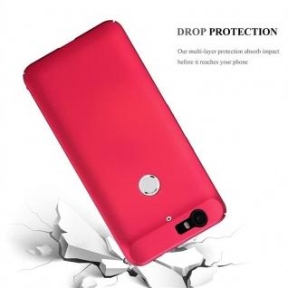 Cadorabo Hülle für Huawei NEXUS 6P in METALL ROT - Hardcase Handyhülle aus Plastik gegen Kratzer und Stöße - Schutzhülle Bumper Ultra Slim Back Case Hard Cover - Vorschau 3