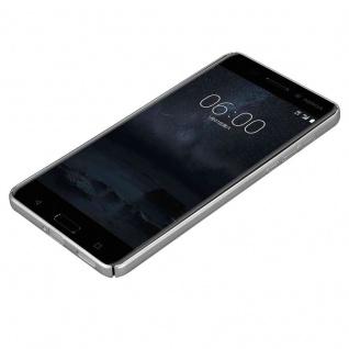 Cadorabo Hülle für Nokia 6 2017 in METALL SILBER - Hardcase Handyhülle aus Plastik gegen Kratzer und Stöße - Schutzhülle Bumper Ultra Slim Back Case Hard Cover - Vorschau 3
