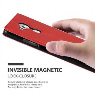 Cadorabo Hülle für Huawei MATE 8 in SAFRAN ROT ? Handyhülle mit Magnetverschluss, Standfunktion und 2 Sichtfenstern ? Case Cover Schutzhülle Etui Tasche Book Klapp Style - Vorschau 5