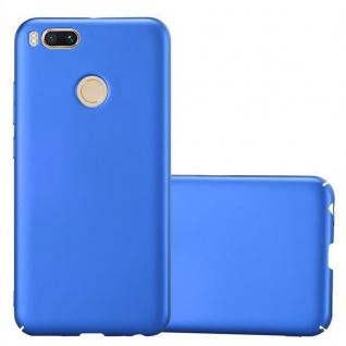 Cadorabo Hülle für Xiaomi Mi A1 / 5X in METALL BLAU - Hardcase Handyhülle aus Plastik gegen Kratzer und Stöße - Schutzhülle Bumper Ultra Slim Back Case Hard Cover