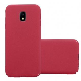 Cadorabo Hülle für Samsung Galaxy J3 2017 in FROSTY ROT Hardcase Handyhülle aus Plastik gegen Kratzer und Stöße Schutzhülle Bumper Ultra Slim Back Case Hard Cover