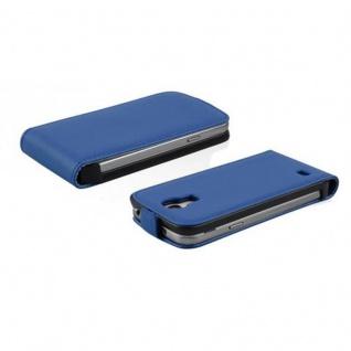 Cadorabo Hülle für Samsung Galaxy S4 MINI in BRILLIANT BLAU - Handyhülle im Flip Design aus glattem Kunstleder - Case Cover Schutzhülle Etui Tasche Book Klapp Style - Vorschau 3