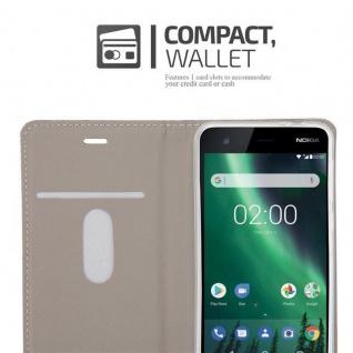 Cadorabo Hülle für Nokia 2 2017 in GRAU SCHWARZ - Handyhülle mit Magnetverschluss, Standfunktion und Kartenfach - Case Cover Schutzhülle Etui Tasche Book Klapp Style - Vorschau 5