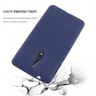 Cadorabo Hülle für Nokia 8 2017 in FROST DUNKEL BLAU - Handyhülle aus flexiblem TPU Silikon - Silikonhülle Schutzhülle Ultra Slim Soft Back Cover Case Bumper - Vorschau 5