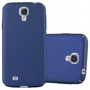Cadorabo Hülle für Samsung Galaxy S4 in METALL BLAU ? Hardcase Handyhülle aus Plastik gegen Kratzer und Stöße ? Schutzhülle Bumper Ultra Slim Back Case Hard Cover