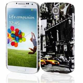 Cadorabo - Hard Cover für Samsung Galaxy S4 - Case Cover Schutzhülle Bumper im Design: NEW YORK CAB