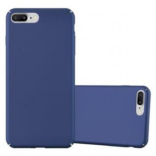 Cadorabo Hülle für Apple iPhone 8 PLUS / iPhone 7 PLUS / iPhone 7S PLUS in METALL BLAU - Hardcase Handyhülle aus Plastik gegen Kratzer und Stöße - Schutzhülle Bumper Ultra Slim Back Case Hard Cover