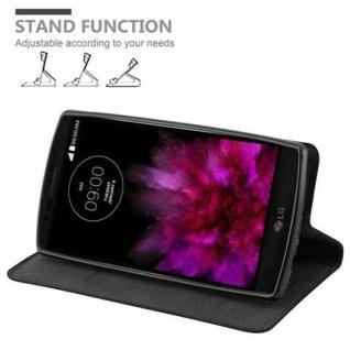 Cadorabo Hülle für LG FLEX 2 in NACHT SCHWARZ - Handyhülle mit Magnetverschluss, Standfunktion und Kartenfach - Case Cover Schutzhülle Etui Tasche Book Klapp Style - Vorschau 4
