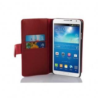 Cadorabo Hülle für Samsung Galaxy NOTE 3 in CHILI ROT ? Handyhülle aus glattem Kunstleder mit Standfunktion und Kartenfach ? Case Cover Schutzhülle Etui Tasche Book Klapp Style